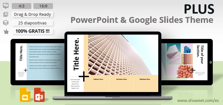 PLUS - Plantilla Limpia para PowerPoint y Google Slides