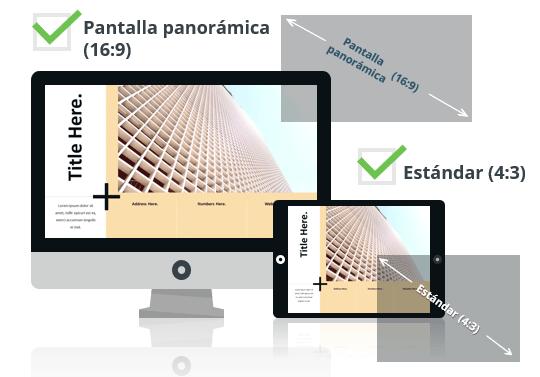 PLUS Plantilla para PowerPoint - Pantalla estándar (4:3) y pantalla panorámica (16:9)